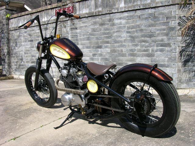 Mr Luckys Custom XS650 using Rigid Frame and stock Yamaha